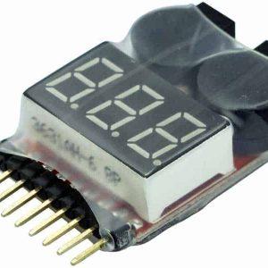 LiPo-Checker 1-8S in a shrink tube adjustable