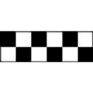 Top Flite Trim MonoKote Check Black/White