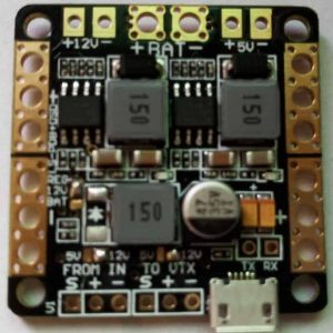 Distribution board with LC filter and OSD (5 or 12V)
