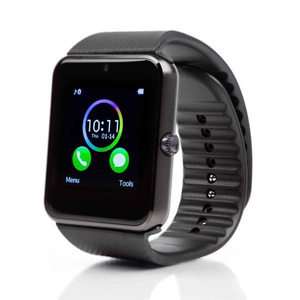 GT08 Smartwatch με υποδοχή SIM ΜΑΥΡΟ