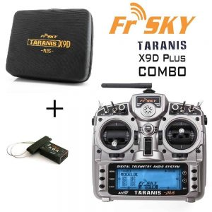 FrSky Taranis X9D Plus (FCC) 2.4GHz ACCST Radio w/ zipper case and X8R