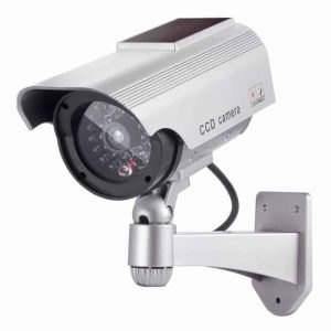 DUMMY CAM 28 Ψεύτικη κάμερα Solar Dummy Camera με LED που αναβοσβήνει και ηλιακό πάνελ