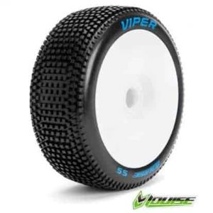 Tire & Wheel B-VIPER 1/8 Buggy Super Soft White (2)